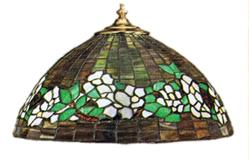 "Tiffany Studios 16"" Belted Dogwood Lampshade Reproduction Package"