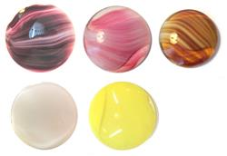 40mm and 35mm Round Variegated Opal Glass Cabachons