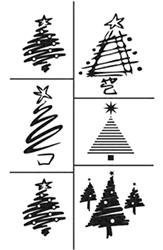 Christmas and Winter Etching Stencils
