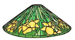 "Tiffany Reproduction Daffodil 18"" Cone (#6322) Lampshade Kit with Form"