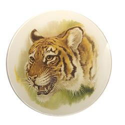 Tiger Glass Medallion