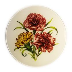 Carnation Glass Medallion