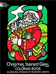 Christmas Stained Glass Coloring Book
