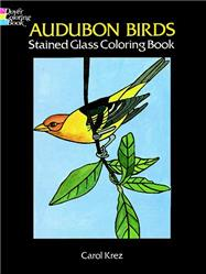Audubon Birds Stained Glass Coloring Book