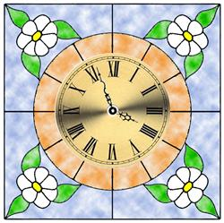 Daisy Stained Glass Clock Kit for pattern #5716