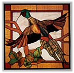 Carolyn Kyle Stained Glass Pattern - Pheasant in Flight (CKE
