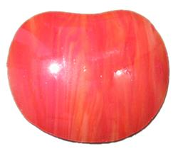 Slumped Glass Apple, each