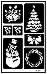 Over N Christmas Etching Stencil