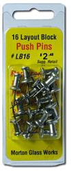 "Morton Metal Push Pins, 1/2"" (LB16)"