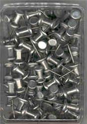 "Metal Push Pins, 5/8"", Box of 100"