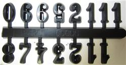 "1/2"" Black Stick-On 12-Number Clock Numerals"