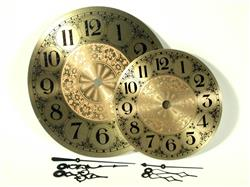 "Clarity 5"" Brass Clock Face and Hands"
