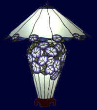 BradleyBase Morning Glory Lamp Base Pattern (LB10-13)