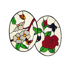 Carolyn Kyle Stained Glass Pattern - Butterfly Duet (CKE-2)