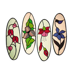 Carolyn Kyle Stained Glass Pattern - Flower Quartet (CKE-3)