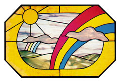 Carolyn Kyle Stained Glass Pattern - Double Rainbow (CKE-14)