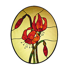 Carolyn Kyle Stained Glass Pattern - Lilies (CKE-29)