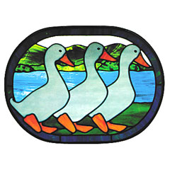 Carolyn Kyle Stained Glass Pattern - Ducks in a Row (CKE-86)