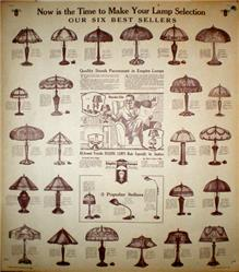 Antique Lampshade Broadside Poster (Reprint)