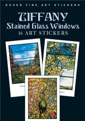 Tiffany Stained Glass Windows 16 Art Stickers (Pocket-Sized)
