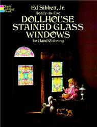 Ready-to-Use Dollhouse Stained Glass Windows