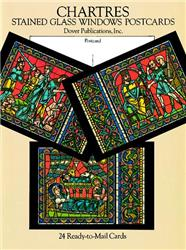 Chartres Stained Glass Windows Postcards