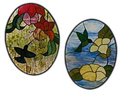 Carolyn Kyle Stained Glass Pattern - Hummingbird Duet (CKE-42)