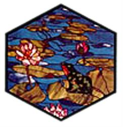 Carolyn Kyle Stained Glass Pattern -  Frog & Dragonfly (CKE-78)