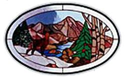Carolyn Kyle Stained Glass Pattern - Peaceful Valley (CKE-118)