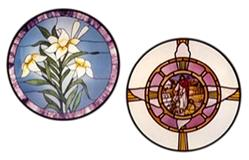Carolyn Kyle Stained Glass Pattern - The Lilies/Dove (CKE-181)