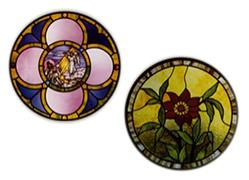 Carolyn Kyle Stained Glass Pattern - Poinsettia/Circle with Open Center (CKE-185)