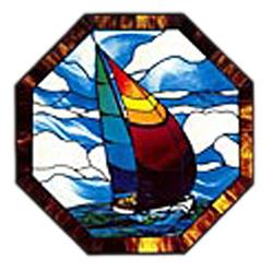 Carolyn Kyle Stained Glass Pattern - Sailboat Window (CKE-55 )