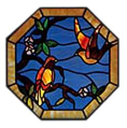 Carolyn Kyle Stained Glass Pattern - Bird & Flower (CKE-58)