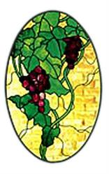 Carolyn Kyle Stained Glass Pattern - Grape Oval (CKE-59)