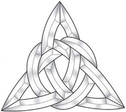 "12"" Celtic Triangle Bevel Cluster"