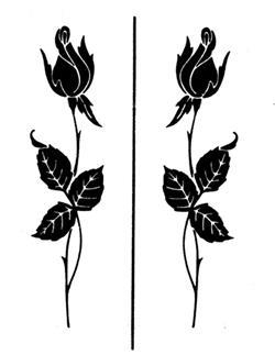 "Rub /'n/' Etch Designer Stencil 5/""x8/""-detailed Roses"