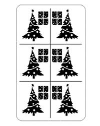 Rub 'N' Etch Christmas Trees