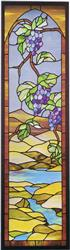 J-40 Grape Sidelight Discount Stained Glass Pattern (Hidden House)