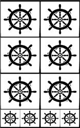Rub 'N' Etch Ship's Wheel