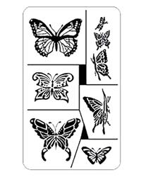 Rub 'N' Etch Butterflies
