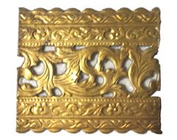 Solid brass gallery (banding), per foot